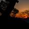 夕陽(能登川水車より)