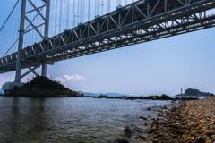相ヶ浜から見た鳴門大橋2(鳴門市観光より)