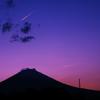 富士山と4機編隊