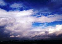 離陸前の虹