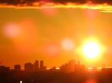 都庁の暑い朝