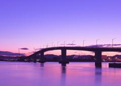 Magic Hour in Hatsukaichi Bridge