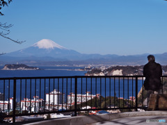 逗子・披露山公園からの富士山