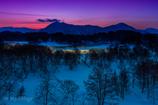 黎明小野川湖
