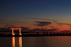 湖畔にも、夜の訪れ。