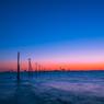 江川海岸で見た夕焼け