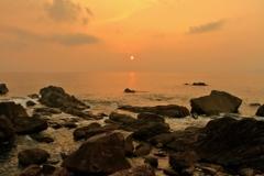 羽根岬からの夕景 ~室戸ジオパーク~