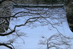 古刹、雪化粧 ~室生寺潅頂堂(本堂)~