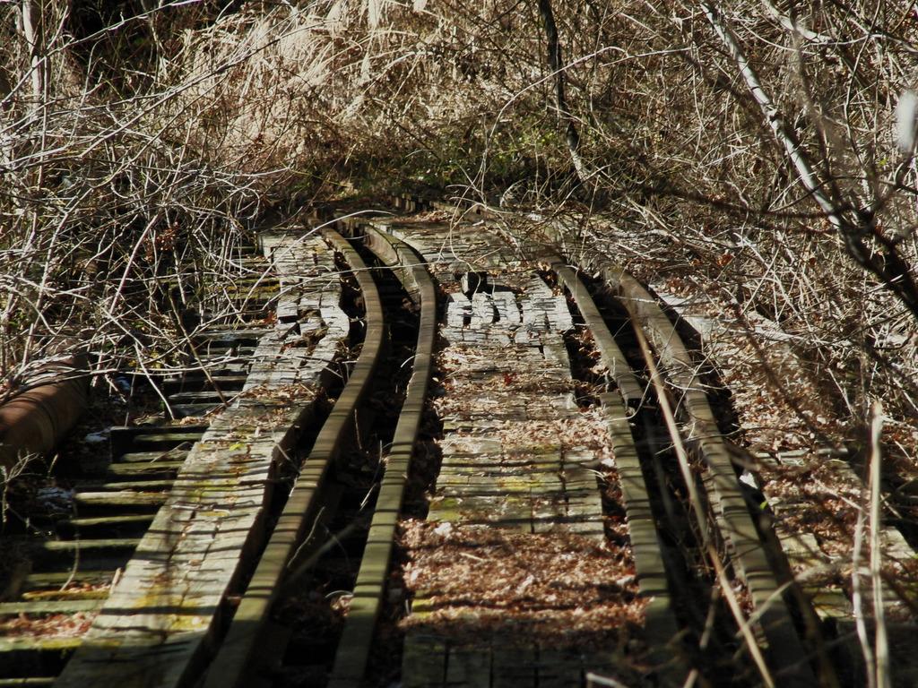 かつて線路だった物