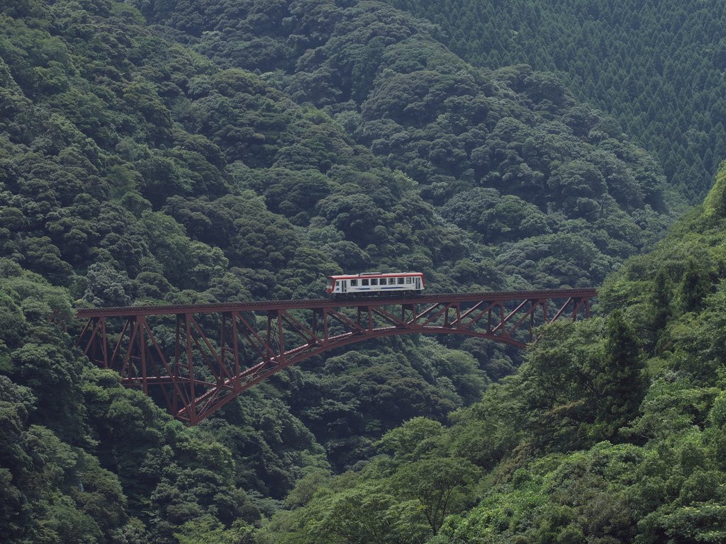 南阿蘇鉄道-第一白川橋梁