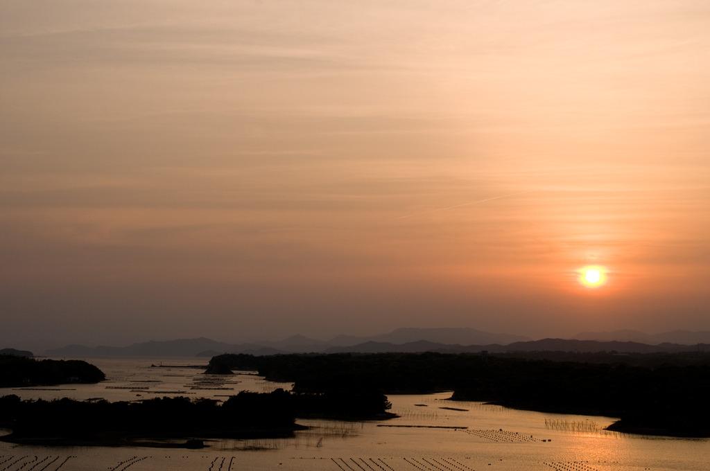 英虞湾の日没