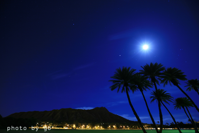 full moon and a diamond