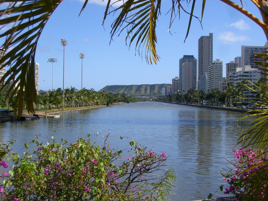 Diamond Head from Ala Wai Canal