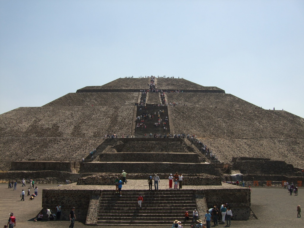 The Sun Pyramid in Mexico