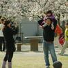 家族@桜の下