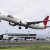 JAL B737-800 出雲空港から飛び立つ
