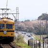 一畑電車と桜