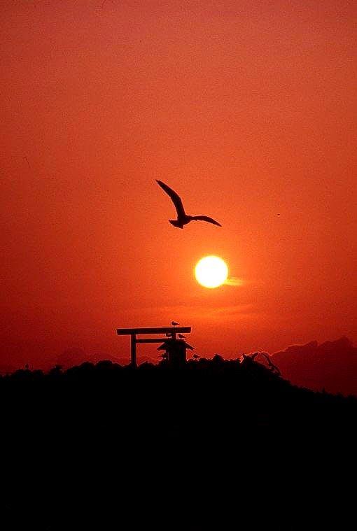 ふみ島の夕暮れ