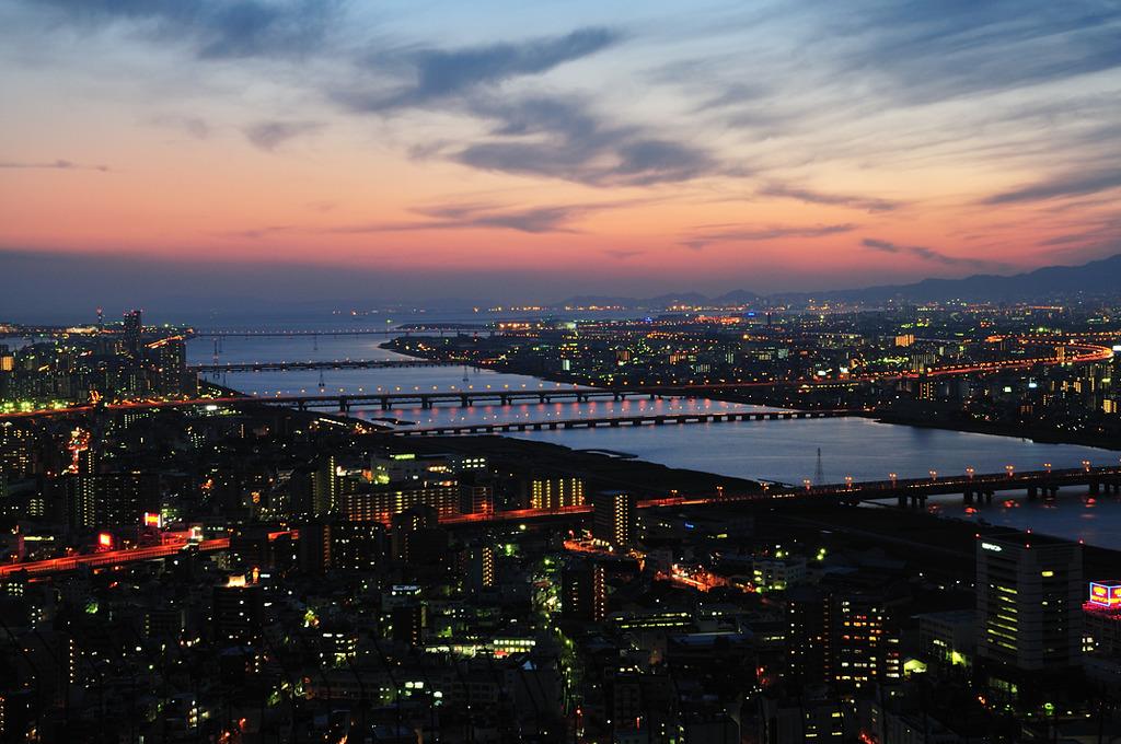 淀川・大阪港 日暮れ