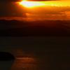 瀬戸内の島々と夕日