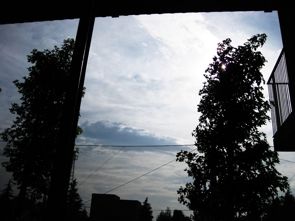 雲のカーテン