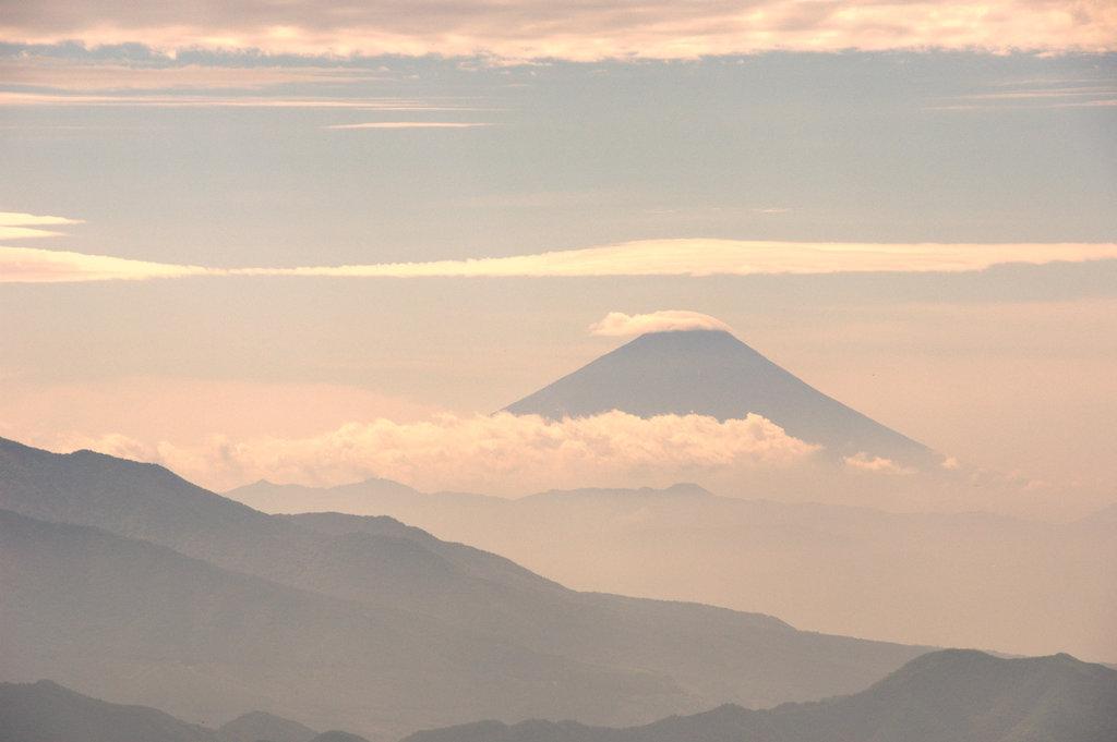八ヶ岳からの富士