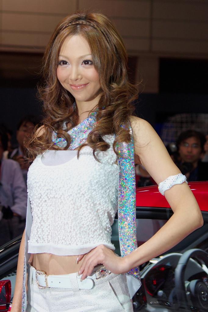 東京モーターショー2009-14-2 山崎みどりさん