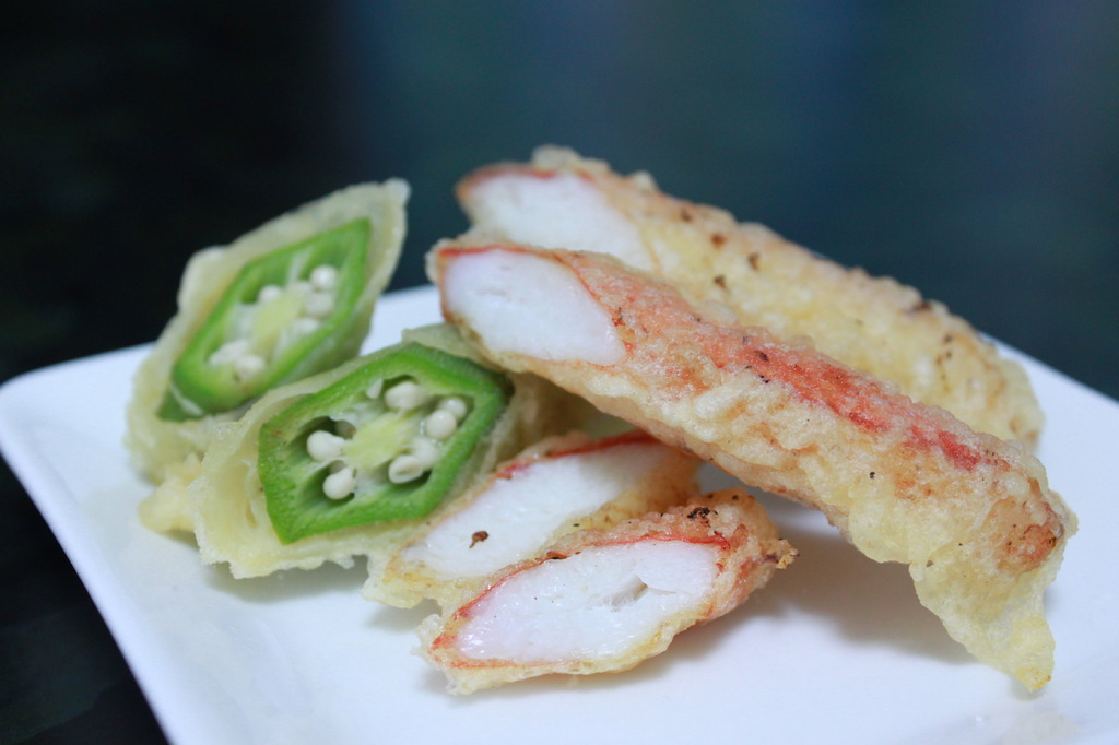 蟹の天ぷらです♪