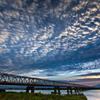 流れる夕雲