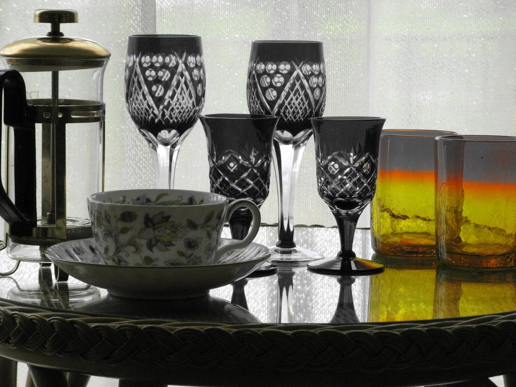 黄色いグラス