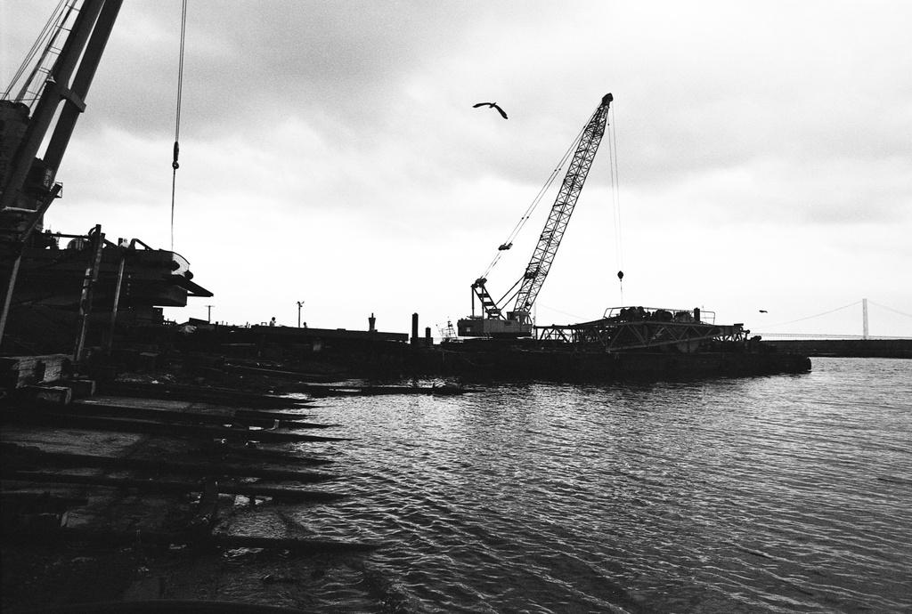 明石浦漁港にて