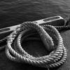 海辺のロープ