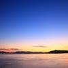 薄明の夕空