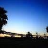 与島の夕暮れ
