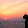 朝陽の撮影