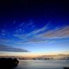 薄明の青空
