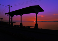 NIKON NIKON D750で撮影した(しもなだ物語 【第三話(最終話)】 下灘の駅に陽は落ちて…)の写真(画像)