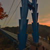 本州一の吊り橋でも悪い癖が…
