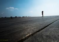 FUJIFILM X-T2で撮影した(春空と彼女と大桟橋•*¨*•.¸¸♬)の写真(画像)