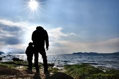 パパと僕と竹島•*¨*•.¸¸♬