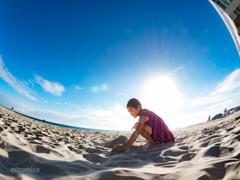 さらっさらの砂の山•*¨*•.¸¸♬