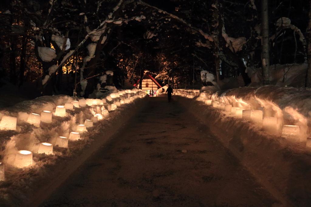 神社の冬祭り