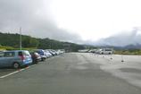 山の上の駐車場
