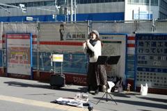 平山ナミさんのストリートライブ