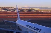 富士山がお迎え @羽田
