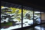 雪の蓬莱庭園(よく見るとつらら) @丈山苑