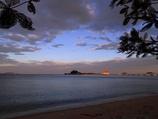 タイ シラチャ海岸の朝焼け