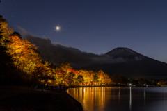 燃え上がる富士山麓