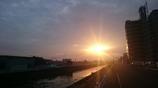 晴れの日の朝日♪