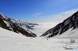 雲海が凄かった白馬大雪渓
